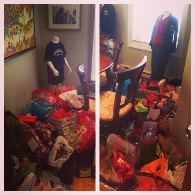 Generosity at #rotherglen We are running out of room for gifts! Thank you!! #KSM