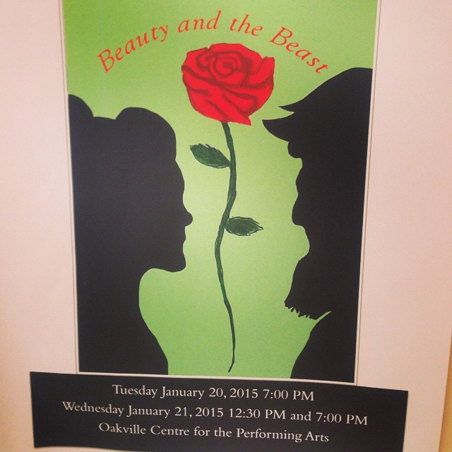 Beauty and the Beast in January..our student created poster!
