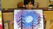 Grade Four and Five- Chalk Pastel Drawings- Erin Mills Campus